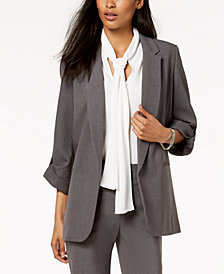 Nine West Stretch Open-Front Jacket