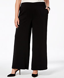 Nine West Plus Size Wide-Leg Pants