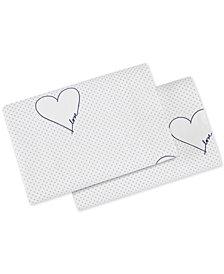 ED Ellen Degeneres Love Hearts Navy Pillowcase Pair, King