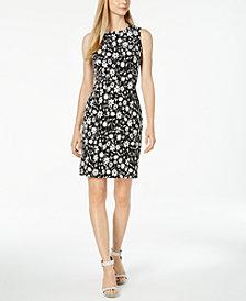Calvin Klein Floral Jacquard Sheath Dress