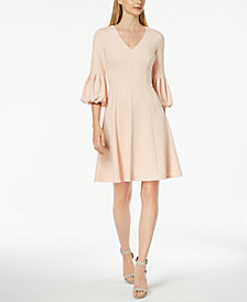 Calvin Klein Statement-Sleeve A-Line Dress