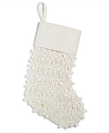 Holiday Lane Cutout Snowflake Stocking, Created for Macy's
