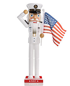 Holiday Lane Navy Nutcracker, Created for Macy's
