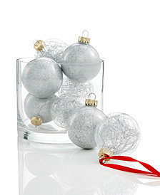 Holiday Lane 8-Pc. Glitter Ornament Set, Created for Macy's
