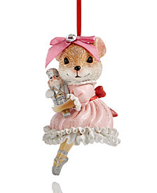 Holiday Lane Ballerina Mouse Ornament, Created for Macy's