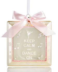 Holiday Lane Music Note & Dance Ornament with Pink Bow, Created for Macy's