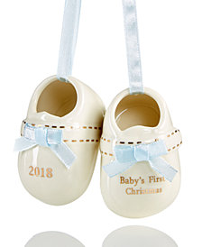 Holiday Lane 2018 Blue Baby Shoes Ornament, Created for Macy's