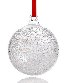 Holiday Lane Iridescent Glass Ball Ornament, Created for Macy's