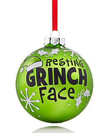 Holiday Lane Resting Grinch Face Ornament, Created for Macy's