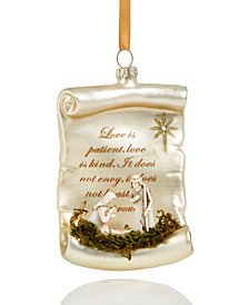 Holiday Lane Glass Nativity Hanging Christmas Tree Ornament, Created for Macy's