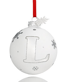 Holiday Lane Initial 'L' Ball Ornament, Created for Macy's