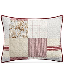 Farmhouse Reversible Patchwork Quilted Standard Sham, Created for Macy's