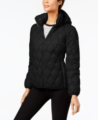 Diamond-Quilted Puffer Coat