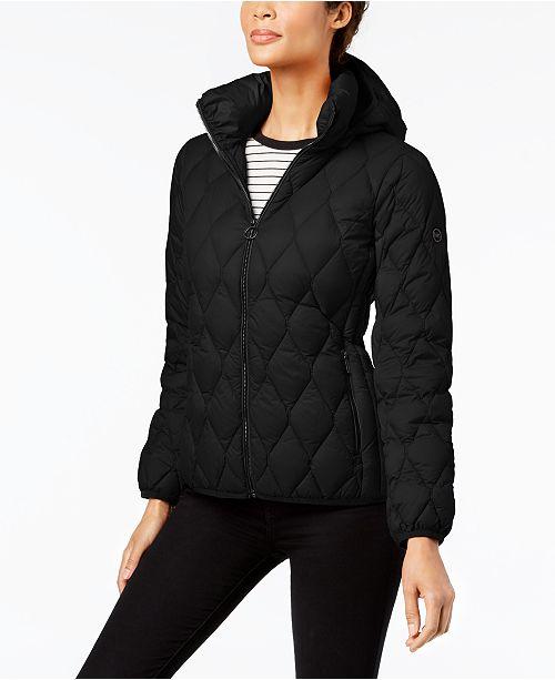 08d73a6532962 Michael Kors Diamond-Quilted Down Puffer Coat   Reviews - Coats ...
