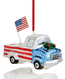 Holiday Lane Patriotic Pickup Truck Ornament, Created for Macy's