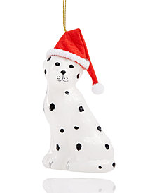 Holiday Lane Dog In Santa Hat Ornament, Created for Macy's