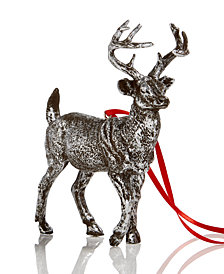 Holiday Lane Dark Silver Reindeer Christmas Tree Ornament, Created for Macy's