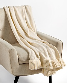 """Whim by Martha Stewart Collection 50"""" x 60"""" Ruffle Throw, Created for Macy's"""