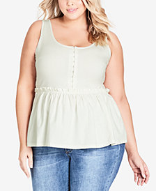 City Chic Trendy Plus Size Corset Tank