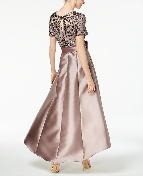 9cfc3ffb926 R   M Richards Petite Sequined   Satin High-Low Gown   Reviews ...