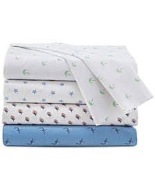 Southern Tide 200 Thread Count Cotton Percale Printed Sheet Set Collection
