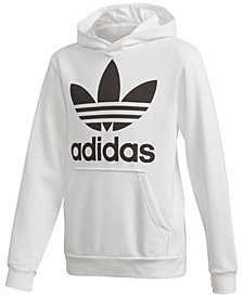 adidas Originals Big Boys Trefoil Graphic-Print Hoodie