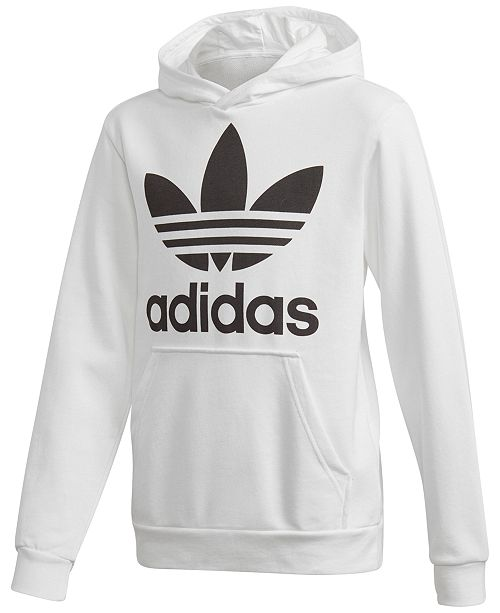 adidas Big Boys Trefoil Graphic-Print Hoodie - Sweaters - Kids - Macy s a23e05ae2fb5
