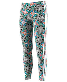 adidas Originals Big Girls Zoo-Print Performance Leggings