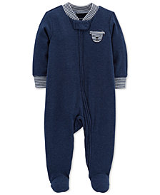 Carter's Baby Boys Dog Footed Coverall
