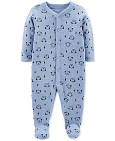 Carter's Baby Boys Dog-Print Thermal Footed Cotton Coverall