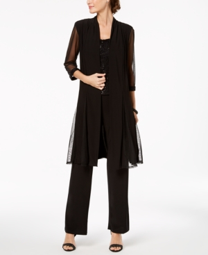 Did Women Wear Pants in the 1920s? Yes! sort of… R  M Richards Sequin-Embellished 3-Pc. Pantsuit $119.00 AT vintagedancer.com