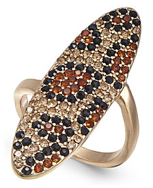 Thalia Sodi Gold-Tone Leopard Pavé Statement Ring, Created for Macy's
