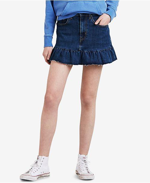 most desirable fashion official supplier best selling Levi's Ruffle-Hem Denim Skirt & Reviews - Skirts - Juniors ...