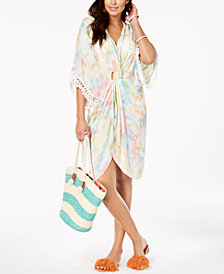 Betsey Johnson Mermaid Tie-Dye Twist Cover-Up
