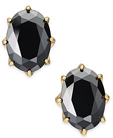 kate spade new york Gold-Tone Stone Oval Stud Earrings