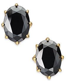 kate spade new york Gold-Tone Stone Oval Stud Earrings