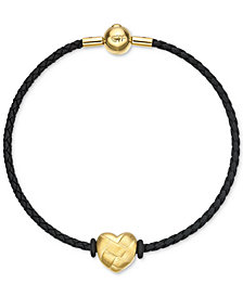 Chow Tai Fook Woven Heart Braided Bracelet in 24k Gold