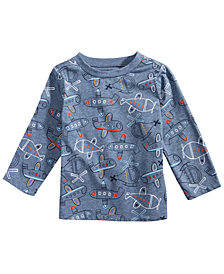 First Impressions Baby Boys Airplane-Print Shirt, Created for Macy's