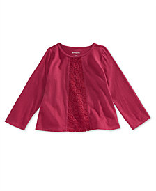 First Impressions Baby Girls Crochet-Detail Cotton Tunic, Created for Macy's