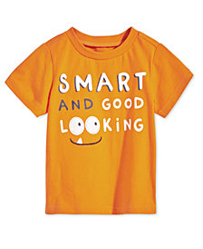 First Impressions Baby Boys Smart-Print Cotton T-Shirt, Created for Macy's