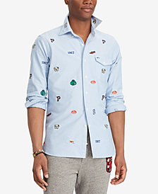 Polo Ralph Lauren Men's Classic Fit Embroidered Cotton Oxford Shirt