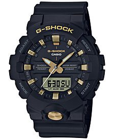 G-Shock Men's Analog-Digital Black Resin Strap Watch 48.6mm