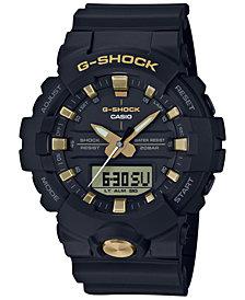 G-Shock Men's Analog-Digital Black Resin Strap Watch 48.6mm