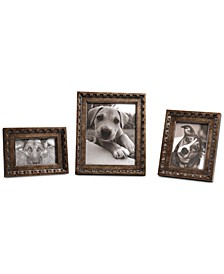 Kalya Antiqued Bronze Photo Frames, Set of 3