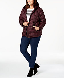 MICHAEL Michael Kors Plus Size Hooded Puffer Coat