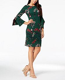 Taylor Floral-Print Bell-Sleeve Dress