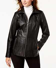 MICHAEL Michael Kors Leather Scuba Jacket
