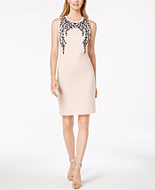 Calvin Klein Beaded Sheath Dress