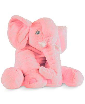 Trademark Global Happy Trails Plush Pink Elephant Stuffed Animal