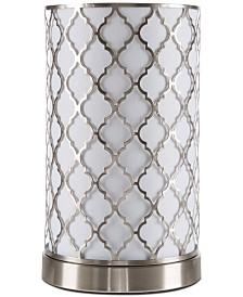 Lavish Home Quatrefoil LED Table Lamp